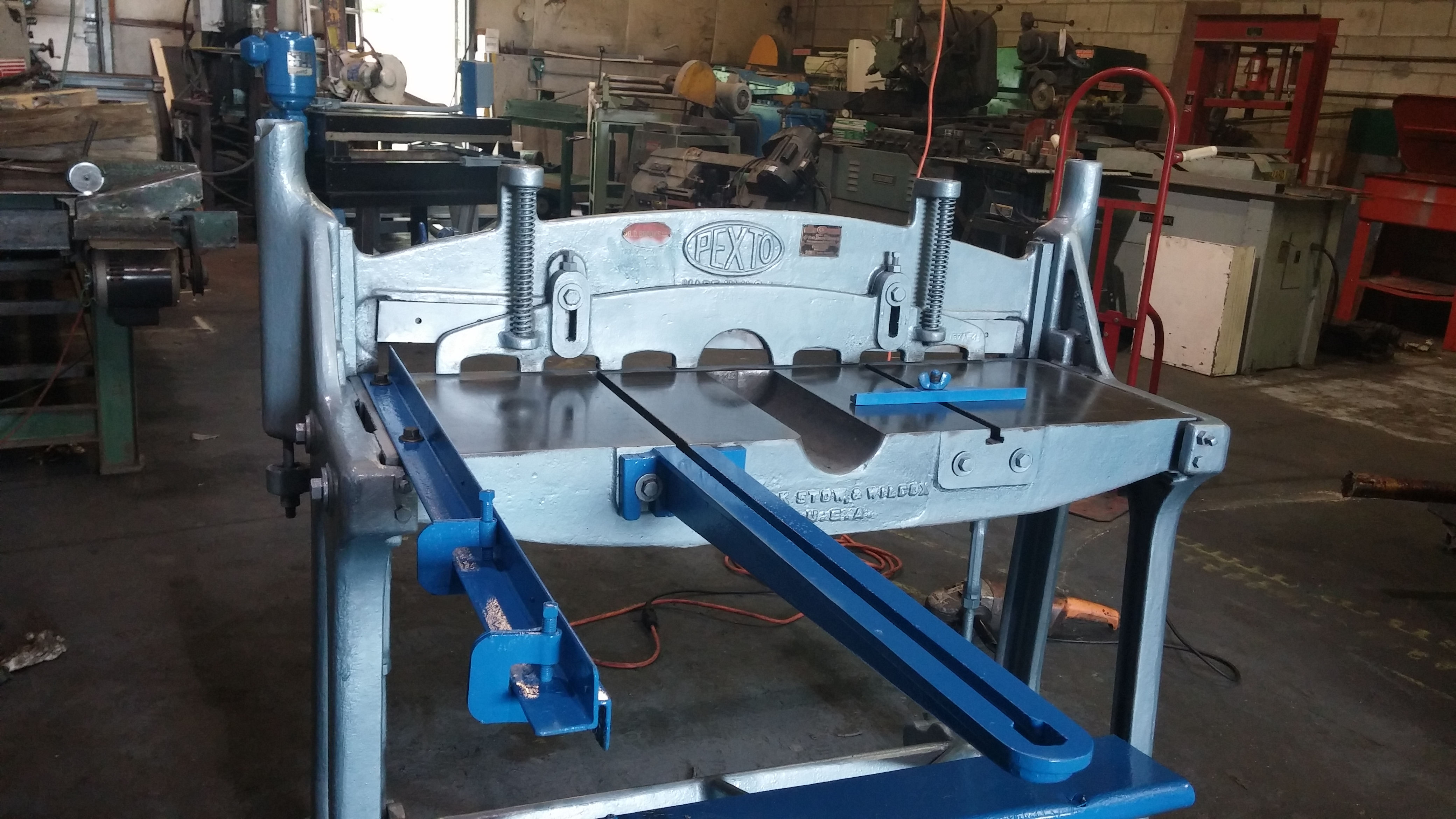 Pexto Shear 36 Quot With Back Guage And Material Supports